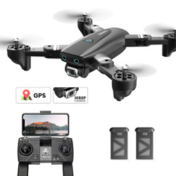 Holy Stone S167 RC Drone with Camera 1080P Foldable GPS RC Quadcopter 2 Battery $102.29