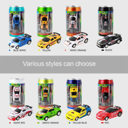 8 Colors Coke Can Mini RC Radio Remote Control Micro Racing Car For Kid Toy Gift $12.45