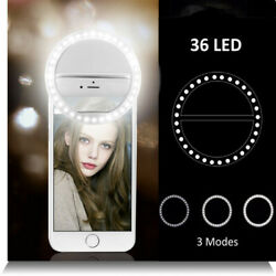 Rechargeable Portable Selfie LED Camera Ring Flash Fill Light For iPhone Samsung $6.99