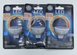 3 Pack GE 7W 50W Bright White 500 Lumens LED MR16 Dimmable Flood Light Bulb $17.95
