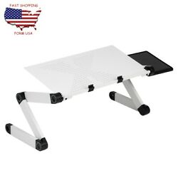 Adjustable Folding Computer Desk Table Laptop PC Writing Study Workstation $35.77