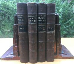 THE WORKS OF THOMAS GREY 1835 1847 FINE LEATHER BINDINGS VOLS 12 3 AND 5 RARE $129.99