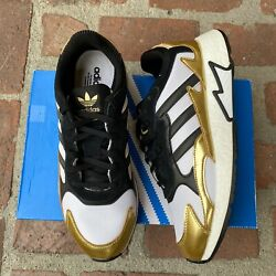 Adidas TRESC Run BOOST Running Shoes Gold Black White EG5661 Men#x27;s Gym New $49.95