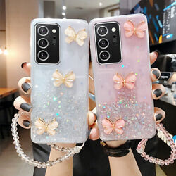 Cute Bling Glitter Butterfly Case Cover For Samsung Note 20 S21 S20 A32 5G A12 $7.98