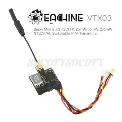 Eachine VTX03 Mini FPV Transmitter 5.8G 72CH 9 Bands 25mW 50mw 200m $21.39