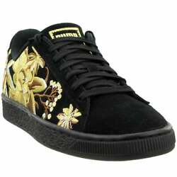 Puma Suede Hyper Embroidery Sneakers Casual Black Womens $29.95