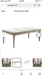 Brette Regal Glam Mirrored Dining Table only Large Four legs LuxuryZGallerie $676.00