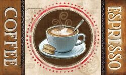 Rectangular Coffee Kitchen Mat 18quot; x 30quot; By Catalina Home $16.99