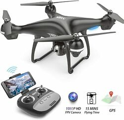 1080p HD Drone w Camera Camera Live Video GPS WiFi FPV RC Quadcopter for Adults $145.99