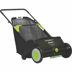 Earthwise 21in. Sweepit Push Lawn Leaf Grass Sweeper Removable Collection Bag $89.99