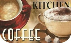 Half Round Coffee Kitchen Mat 18quot; x 30quot; By Catalina Home $16.99