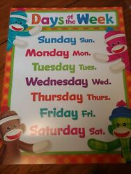 Educational Teaching Supplies: Lg Classroom Poster Days of the Week Trend $4.95