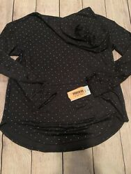 Girls#x27; Long Sleeve Silver Dot Hoodie Black XL Cat amp; Jack #JV270 $9.99