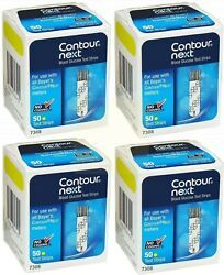 Contour Next Test Strips 4 Boxes of 50. EXP January 2022 or LATER over a year $65.50