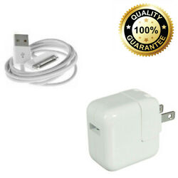12W USB Power Adapter Wall Charger For Apple iPad 2 3 4 Air 30 Pin Cable $11.99