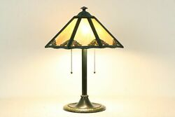 Stained Glass 6 Panel Shade Antique Lamp Bradley amp; Hubbard #34593 $550.00