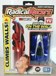Radical Racers Wall Climbing Car Remote Control RC Car Blue S4 $22.99