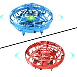 UFO Mini Drone Quad Induction Levitation Hand Operated Helicopter Toy Red Blue $24.99