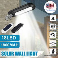 18 LED Outdoor Commercial Solar Street Light IP55 Waterproof Dusk to Dawn Lamp