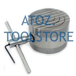 4quot; 100mm Round Permanent Magnetic Chuck Strong Hold Special Design Cross Poles $124.99