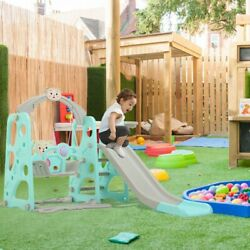 Fun Kids Swing Set Playground Slide Outdoor Backyard Space Saver 3 IN 1 Play US $117.01