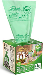 100 Count Compost Bags Small Home Kitchen Trash Bag Biodegradable Waste Storage $17.40