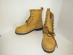 NEW Harley Davidson Gold Wheat Brown 8quot; Lace Biker Boots 95151 Mens Size 11 M $75.00