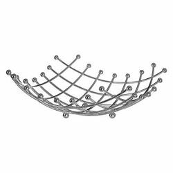 BBLHOME Fruit Basket Modern Countertop Wire Vegetable 13x13.4 Silver $38.29