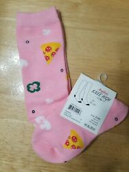 Angelina Pizza Novelty Knee High Socks Size 9 11 $4.95