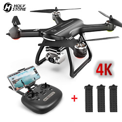 Holy Stone HS700D RC Drones with 4K HD Camera GPS 5G Quadcopter 3 Batteries US $259.99