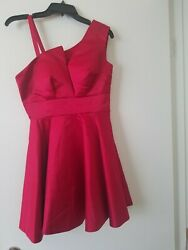 Womens red cocktail dress size 8 $12.95