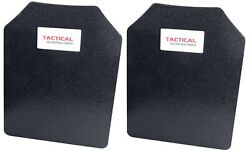 Level III AR500 Steel Body Armor Pair 11x14 Curved Plate Coated Quick Ship $119.95