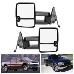 For 99 02 Silverado Sierra 1500 2500 Power Extendable Heated LED Towing Mirrors $244.41