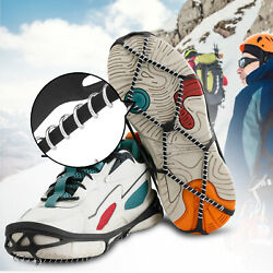 Walking On Ice Snow Anti Slip Boots Shoes Crampons Traction Cleats Grips Hiking $8.98