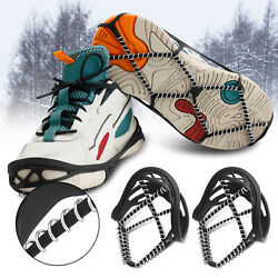 Walking On Ice Snow Boots Shoes Crampons Traction Cleats Grippers Spikes Hiking $8.98