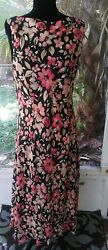 Sale Charter Club 18W Maxi Length Sleveless Dress Polyester 40 in Bust $8.50