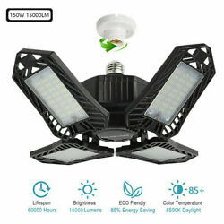 E27 bright 150W LED Garage Light Deformable Workshop Ceiling Lamp US $28.99