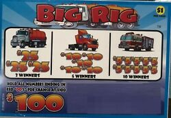 quot;Big Rigquot; 1 Window Pull Tab 364 Tickets Payout $275 Free Ship USA $32.95