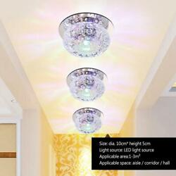 5W Modern Crystal LED Ceiling Light Fixture Hallway Pendant Lamp Chandelier