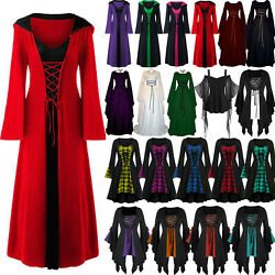 Womens Halloween Renaissance Gothic Witch Maid Cosplay Party Fancy Dress Clothes $23.74