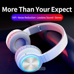 Bluetooth Headphones Over Ear Noise Cancelling Wireless Foldable Headset w Mic $22.69