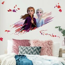 Frozen II Disney RoomMates Vinyl Giant Wall Bedroom 15 Removable Decal Stickers $18.99