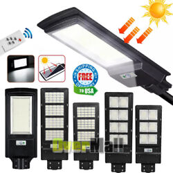 990000LM Commercial Outdoor Dusk Dawn Solar Street Light IP67 LED Road LampPole