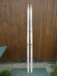 Ready To Use Cross Country 77quot; FISCHER 200 CM Skis NNN Binding WAXLESS BASE $59.52