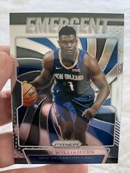 Zion Williamson PRIZM Emergent New Orleans Pelicans ROOKIE RC Ready To Grade RC $19.98