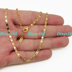 Menamp;Womens 18K Yellow Gold Filled Italian Mariner Curb Link Chain Necklace F090Y $14.99