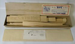 ULTRA RARE Vintage 1948 DeBolt Model #x27;BIPE#x27; by Dmeco R C Airplane Model Kit $95.00