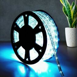 Christmas Light 100#x27; 2 Wire LED Rope In Outdoor 110V Cool White Decorative Light