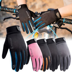 US Bike Riding Full Finger Glove Racing Motorcycle Gloves Cycling Bicycle MTB $8.39