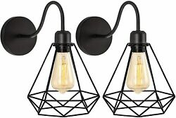 Set of 2 Industrial Gooseneck Farmhouse Wall Sconce Rustic Wall Lamp Lighting $28.39